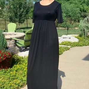 Zanana Outfitters Long Black Maxi Dress